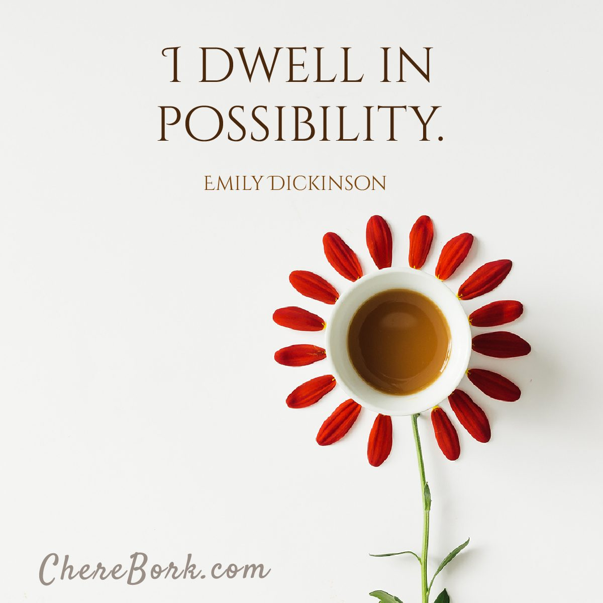 I dwell in possibility. -Emily Dickinson