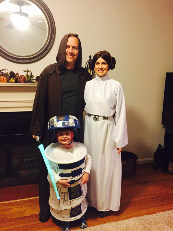Gavin, Chad and Sherry dressed up for a spooktacular Halloween