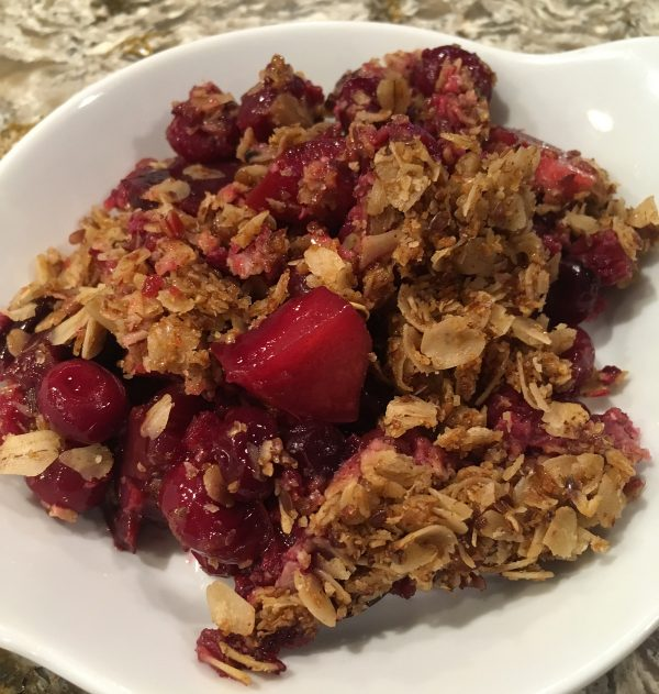 Cherry Berry Crumble, by Cathy Leman MA, RD, LD