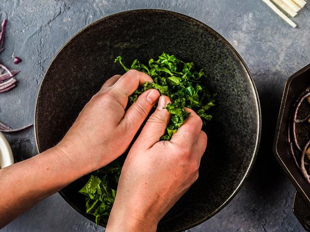 Massaging the kale