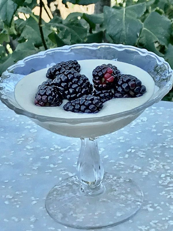 Blackberries with Sweet Almond Cashew Cream from Cheryl Mussatto MS, RD, LD