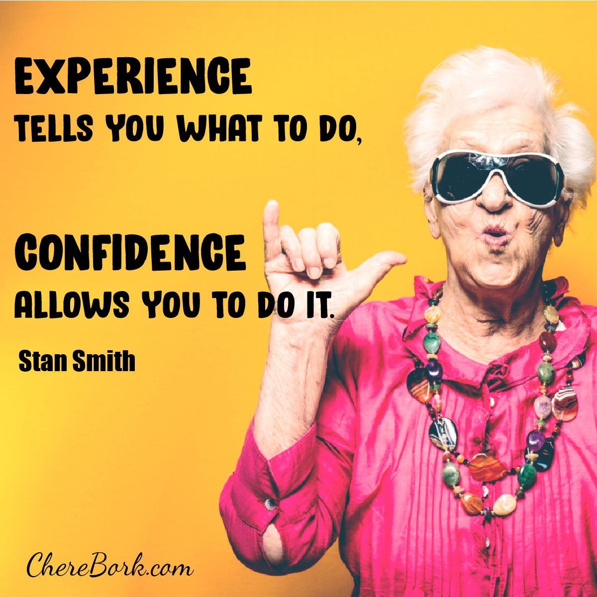 Experience tells you what to do. Confidence allows you to do it. -Stan Smith