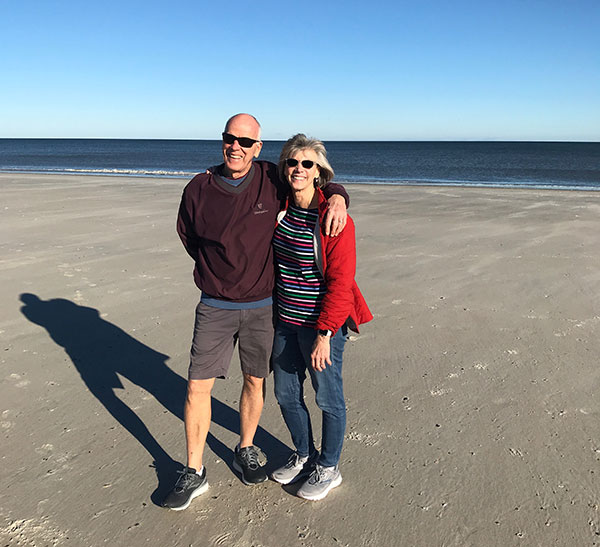 Eileen and husband on Fernandina Beach