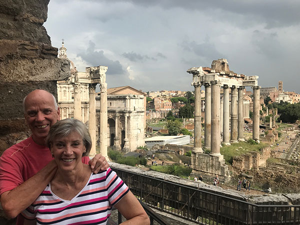Eileen and Gary in Italy