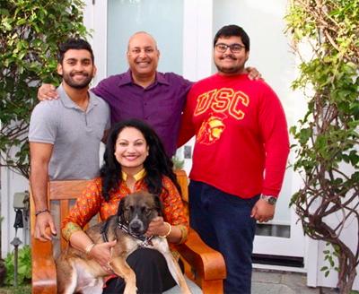 vandana and family