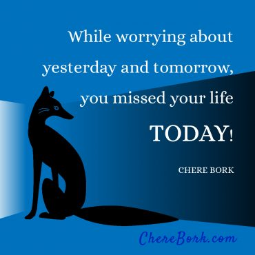 While worrying about yesterday and tomorrow, you missed your life today! -Chere Bork